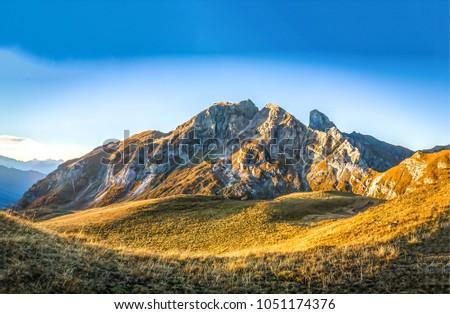 Mountain range landscape #1051174376