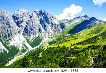 Mountain range landscape #629141855