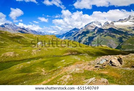 Mountain range landscape #651540769