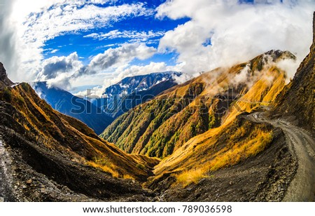 Mountain range landscape #789036598