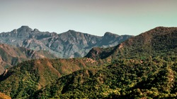 Mountain range of the Sierra Madre Occidental in Durango, Mexico
