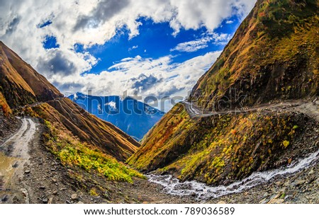 Mountain range road landscape #789036589