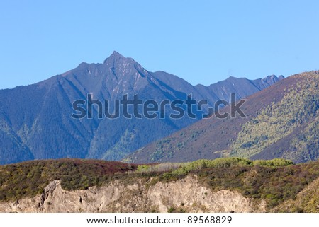 Mountain ranges in Tibet