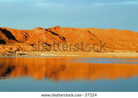 Mountain reflection - stock photo
