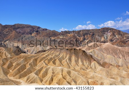 Mountain Ridges in Death Valley - stock photo