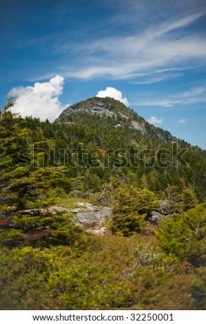 Mountain ridges near Blue Ridge Parkway at Grandfather Mountain in North Carolina