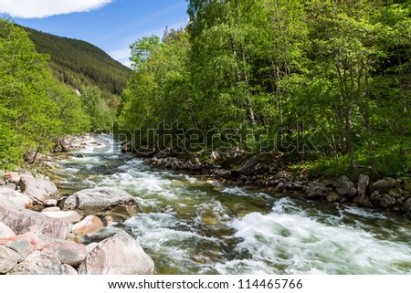 mountain river in Norway