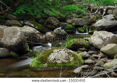 Mountain river in Shenandoah National park
