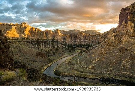 Mountain river in the gorge. Mountain river canyon panorama. River canyon in mountains. Mountain river panorama