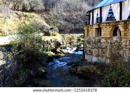 mountain river in the mountain