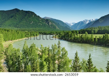 Mountain river Katun