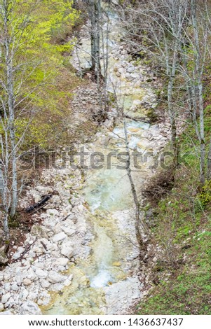 Mountain river , mountain stream.