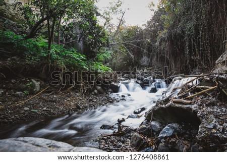 Mountain river.Mountain water flow