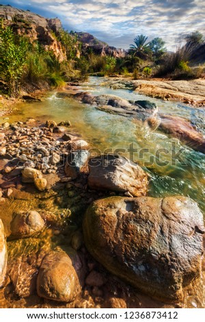Mountain river. Nature and landscapes. #1236873412