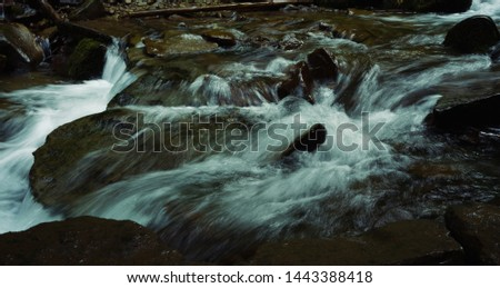 mountain river. rugged mountain river outdoors