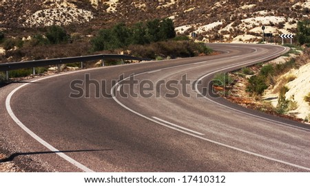 Mountain road curve