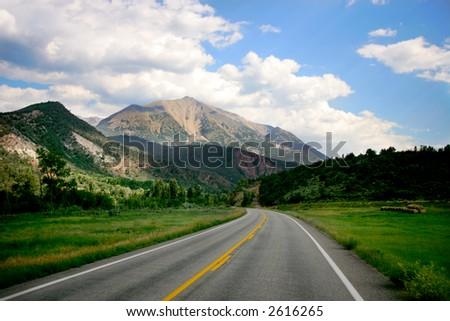 Mountain Road in Colorado Mountains