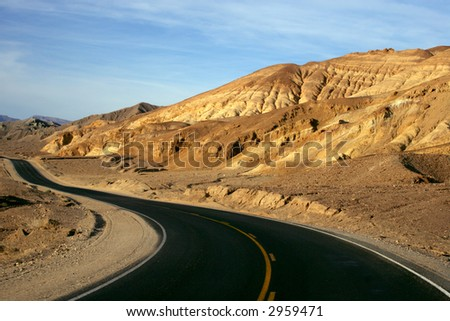 Mountain Road in Death Valley, California