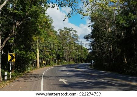 Mountain road landscape. #522274759