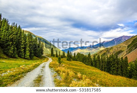 Mountain road landscape #531817585