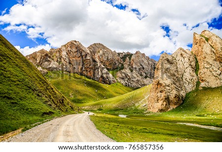 Mountain road landscape #765857356
