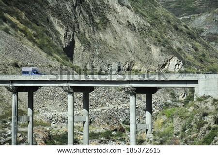 Mountain roads in China