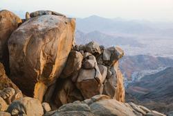 Mountain rocks in Al Taif, Saudi Arabia