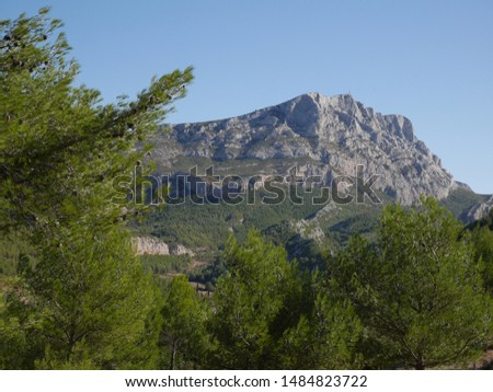Mountain Sainte-Victoire, near Aix-en-Provence, south of France, much painted by famous french painter Paul Cezanne whose paintings are now in greatest art museums.