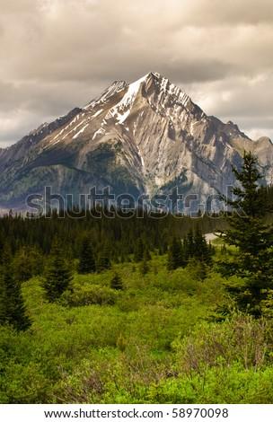 Mountain scene in Kananskis Country Alberta Canada
