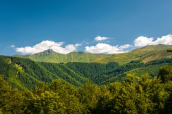 Mountain scenery in a warm sunny  summer day. Stara planina, Bulgaria