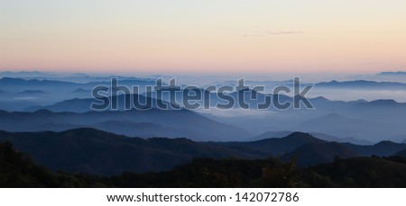 Mountain scenic in Thailand is  most beautiful