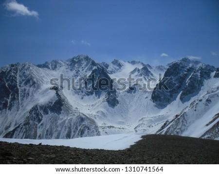 mountain siberia Munka Stock fotó ©