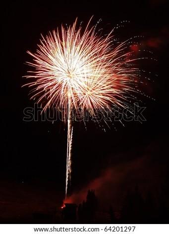Mountain side firework