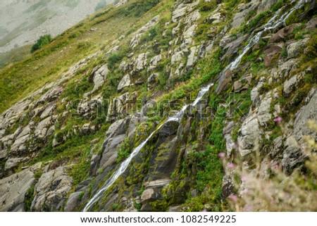 mountain slopes with vegetation #1082549225