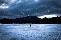 Mountain Snow Lake