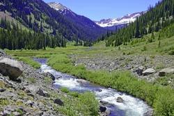 Mountain stream in the Elk Range, Colorado Rockies