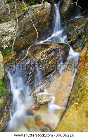 mountain stream running over rocks