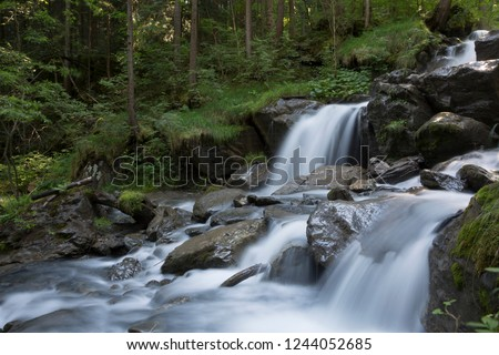 Mountain stream torrent de Tiere (Champery, Switzerland)