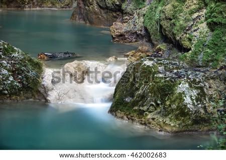 Mountain stream turquoise #462002683