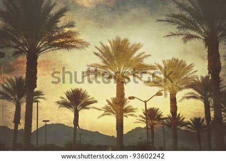 mountain sunset in las vegas