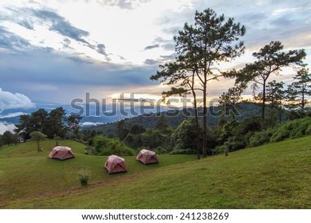 Mountain Tent sunset