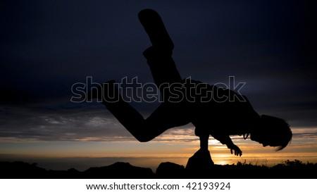Mountain top break dancer