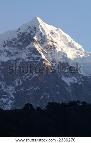 Mountain Top Near Mount Everest