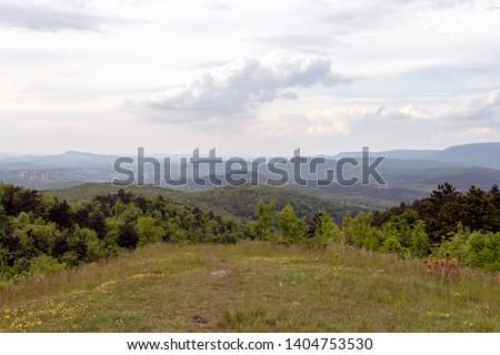 Mountain top of the Nagy-Szenas hegy near Pilisszentivan and Nagykovacsi in the Pilis, Hungary. Stock fotó ©