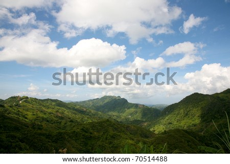 Mountain valley Cebu Philippines