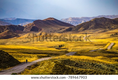 Mountain valley road landscape #789667903