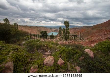 mountain vegetationarid mountain vegetation #1235153545