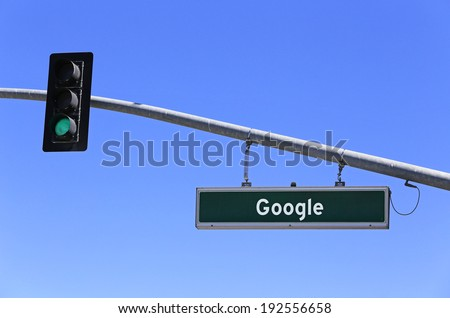 MOUNTAIN VIEW, CA - MARCH 18: A sign in front of the Google world headquarters complex on March 18, 2014. Google is a multinational corporation specializing in Internet-related services and products.