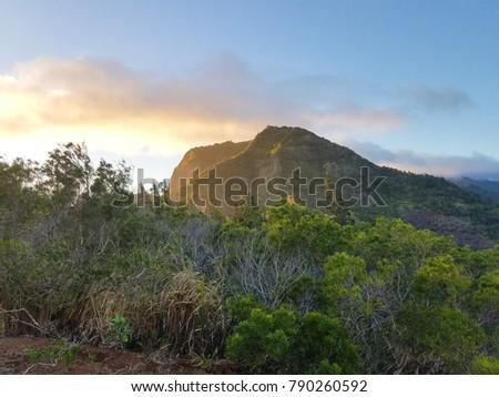 Mountain View from kolekole pass on Schofield Barracks, Hawaii Stockfoto ©