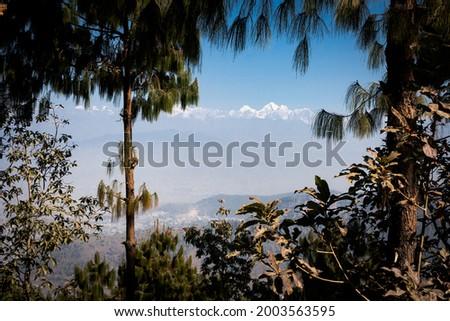 Mountain view from Kotdanda, Dhamma Gara, Lalitpur, Kathmandu during Lockdown. Zdjęcia stock ©